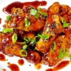 Raspberry Hoisin Wings