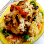 Jerk Chicken W/ Mango-Coconut Couscous