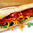 Vietnamese Char Siu Banh Mi Sandwich