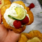 Amazing Lime And Raspberry Pie Tarts W/ House-Made Lime Whipped Cream