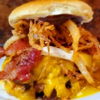 Apple Butter, Bacon, Cheddar Burger