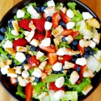 Fresh Berry, Mozzarella And Orange-Honey Chicken Salad