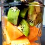 Cantalope, Kiwi Smoothie W/ Blueberry, Kale And Hemp