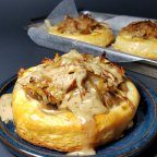 Warm Gruyere Tarts W/ White Wine Cream Sauce