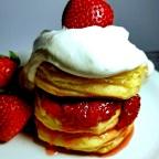 White Rum Strawberry Tallcakes W/ Cream Cheese Topping
