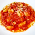 Gnocchi W/ Tuscano Salame, Tomatoes And Shallots